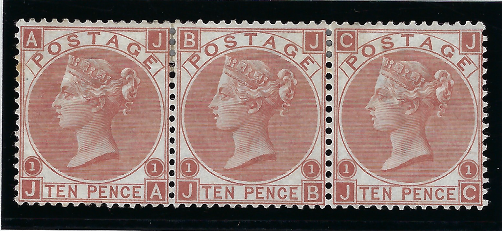 Great Britain 1867 10d pale red-brown Plate 1, SG113