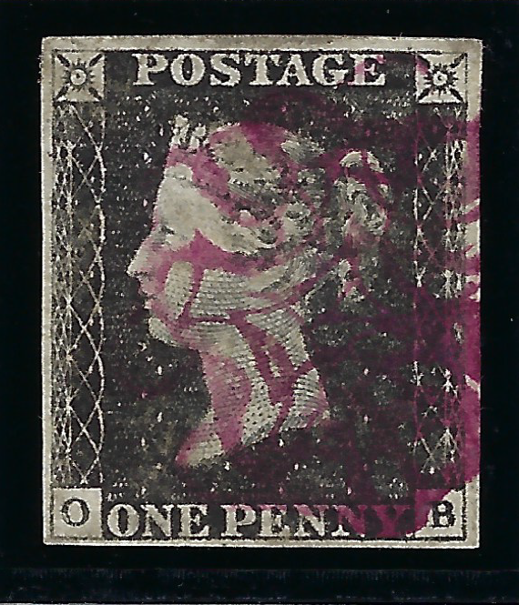 Great Britain 1840 1d Black Plate 4, SG2