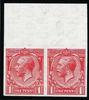 Great Britain 1924 1d Scarlet (Waterlow printing, Watermark Sideways) SG419a var.