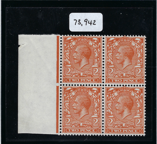 Great Britain 1924 2d Orange (No Watermark), SG421a