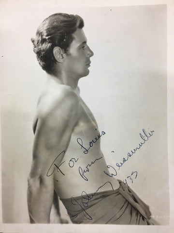 Johnny Weissmuller Tarzan signed photograph