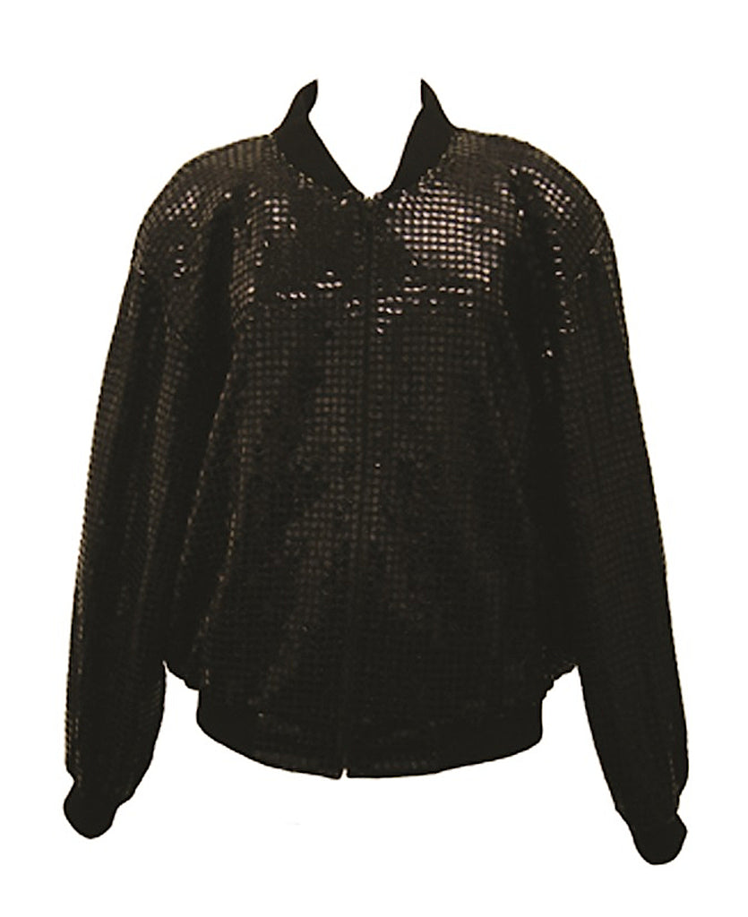 Michael Jackson owned and worn black sequined jacket