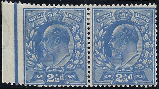 Great Britain 1911 2½d Dull blue. SG283var
