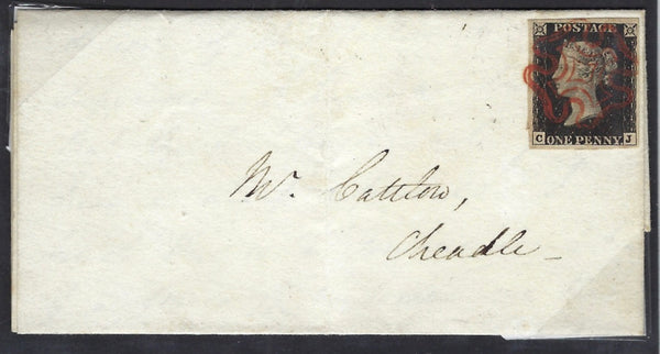Great Britain 1840 1d Intense black Plate 6. SG1