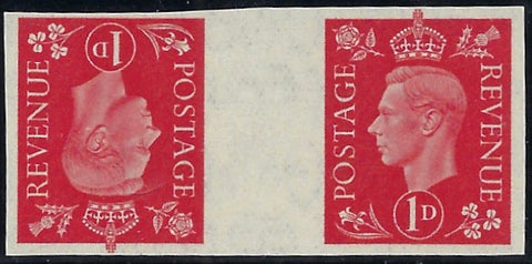 Great Britain 1937 1d Scarlet. SG463var