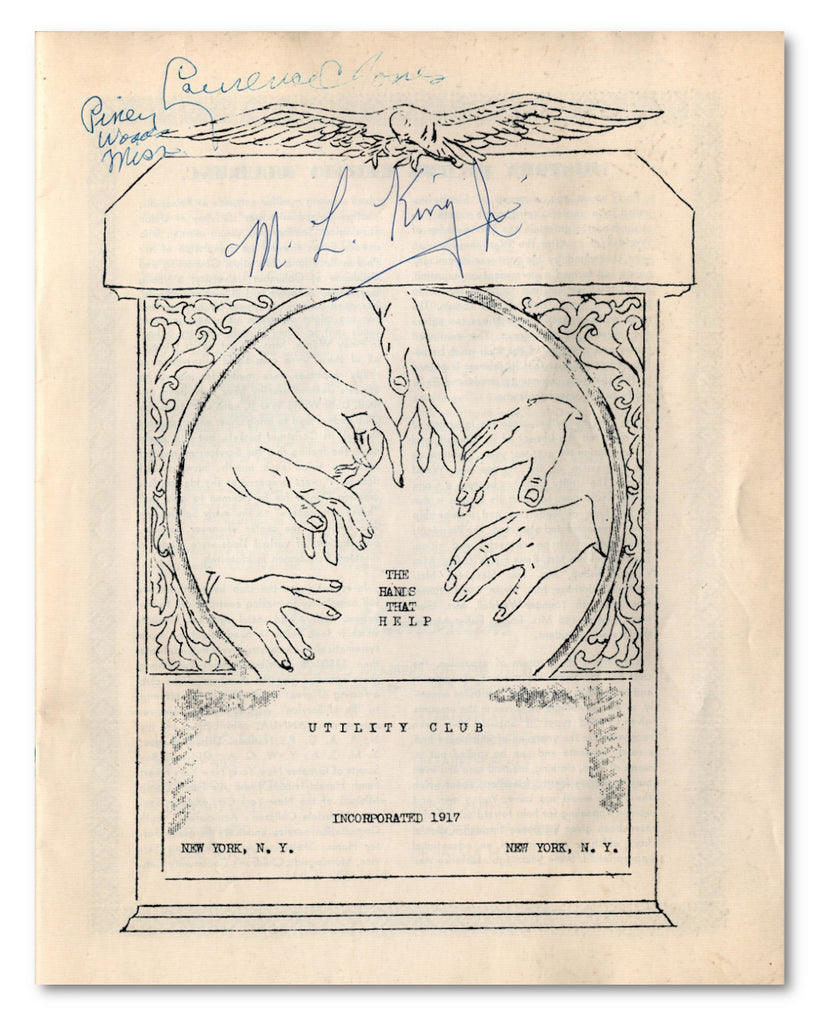 Martin Luther King signed programme