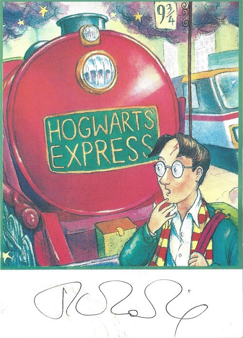 Harry Potter Postcard signed by J.K Rowling