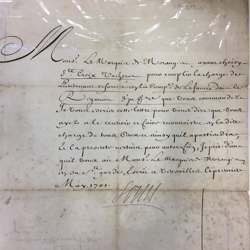 Louis XIV signed document