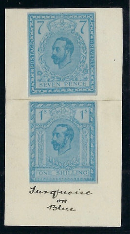 Great Britain 1911 7d & 1s Hentschel essays.