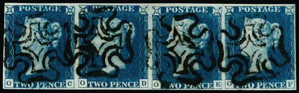 Great Britain 1840 2d Blue, SG5
