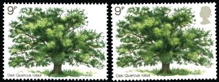 Great Britain 1973 9p British Trees, SG922b