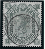 Great Britain 1883 10s Grey green Plate 1 (Blued paper), SG131