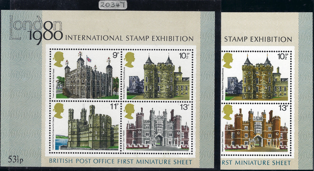 Great Britain 1978 Queen Elizabeth II British Architecture Miniature sheet, SG1058d