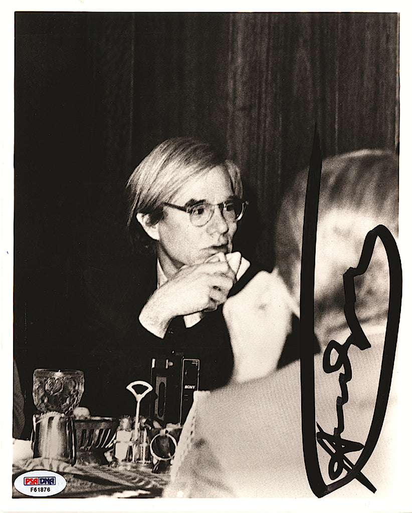 Andy Warhol signed black and white photograph