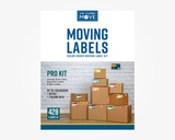 "Color Coded Moving Labels - PRO KIT | 428 Labels | 7"" x 2.5"" Room Labels"