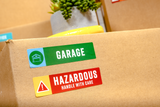 "Color Coded Moving Labels - STANDARD KIT | 600 Labels | 4"" x 1"" Labels"