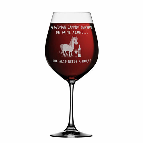 Horse Wine Glass