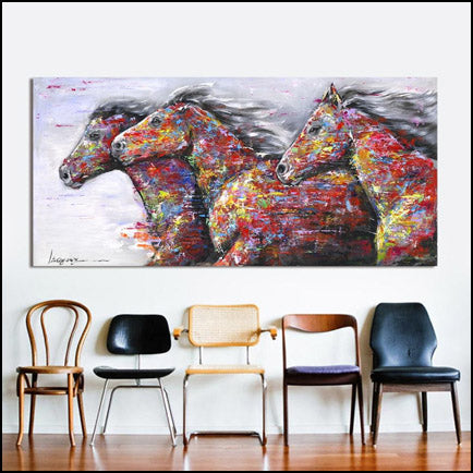 Rainbow Horse Canvas Art