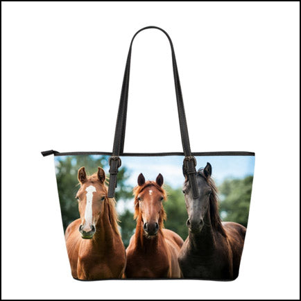 Horse Small Leather Tote