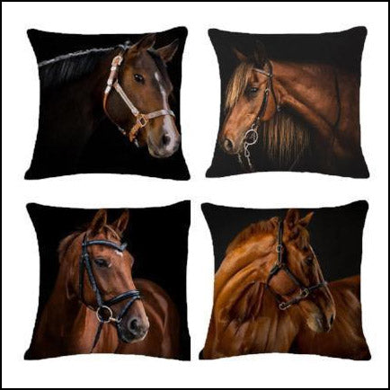 Real Horse Cotton Cushion Covers