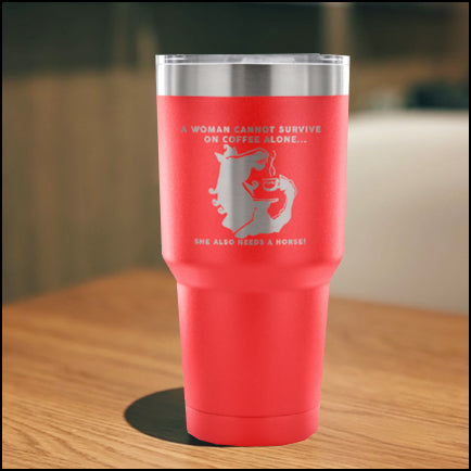 Vacuum Tumbler with horse Graphic