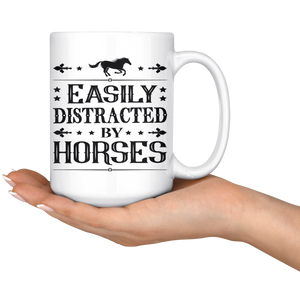 Snow Easily Distracted by Horses Mug