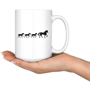 Black Three Foal Mug