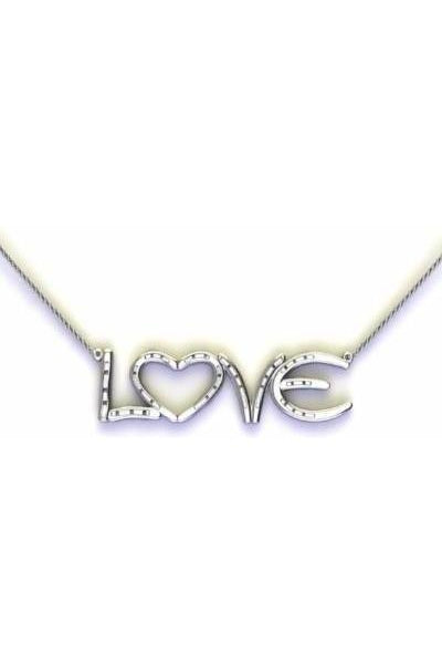 Silver Lucky Horseshoe Love Necklace