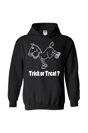 Trick Or Treat? - Long Sleeve-Long Sleeve-Teescape-HODDIE-Black-S-Three Wild Horses