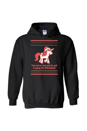 Ugly Christmas Sweater - Long Sleeve-Long Sleeve-Teescape-HODDIE-Black-S-Three Wild Horses