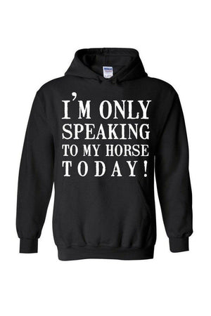 Only Speaking to My Horse - Long Sleeve In Black-Long Sleeve-Teescape-Black-S-Three Wild Horses