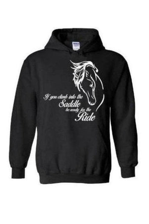 Horse Riding - Long Sleeve-Long Sleeve-Teescape-Hoodie-Black-S-Three Wild Horses