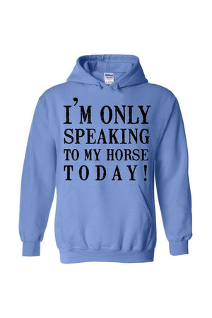 Only Speaking To My Horse- Long Sleeve-Long Sleeve-Teescape-Carolina Blue-S-Three Wild Horses