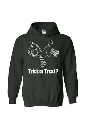 Trick Or Treat? - Long Sleeve-Long Sleeve-Teescape-HODDIE-Forest Green-S-Three Wild Horses