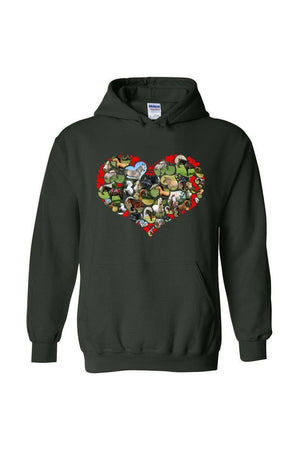 Heart Shaped Horses - Long Sleeve-Long Sleeve-Teescape-HOODIE-Forest Green-S-Three Wild Horses