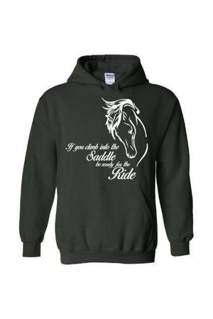 Horse Riding - Long Sleeve-Long Sleeve-Teescape-Hoodie-Forest Green-S-Three Wild Horses
