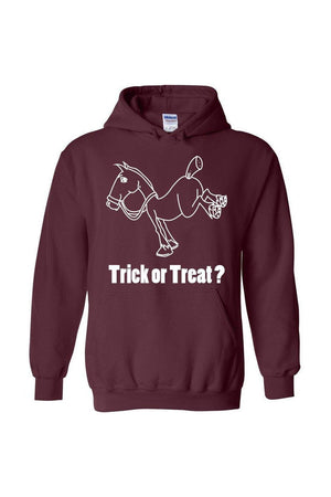 Trick Or Treat? - Long Sleeve-Long Sleeve-Teescape-HODDIE-Maroon-S-Three Wild Horses