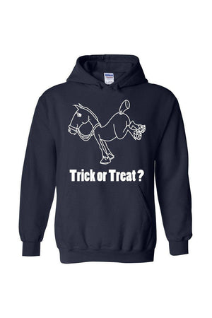 Trick Or Treat? - Long Sleeve-Long Sleeve-Teescape-HODDIE-Navy-S-Three Wild Horses