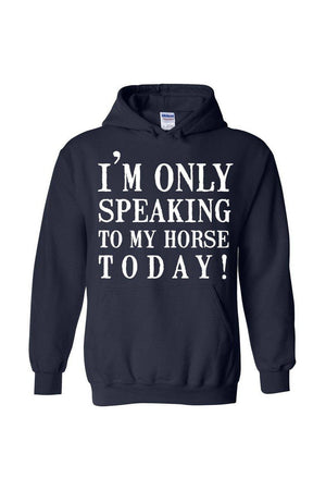 Only Speaking to My Horse - Long Sleeve In Black-Long Sleeve-Teescape-Navy-S-Three Wild Horses