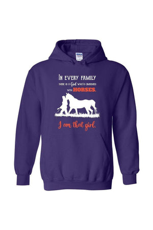 I Am That Girl - Long Sleeve-Long Sleeve-Teescape-HOODIE-Purple-S-Three Wild Horses