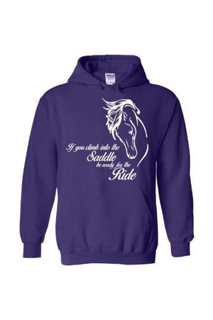 Horse Riding - Long Sleeve-Long Sleeve-Teescape-Hoodie-Purple-S-Three Wild Horses