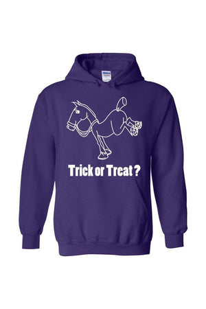 Trick Or Treat? - Long Sleeve-Long Sleeve-Teescape-HODDIE-Purple-S-Three Wild Horses