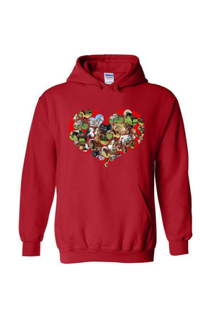 Heart Shaped Horses - Long Sleeve-Long Sleeve-Teescape-HOODIE-Red-S-Three Wild Horses