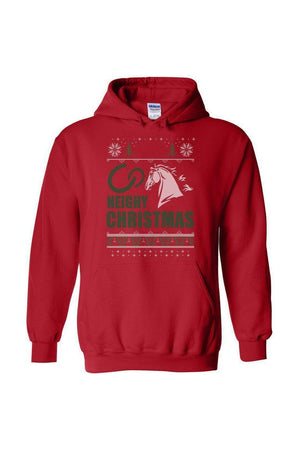Ugly Christmas Sweater - Long Sleeve-Long Sleeve-Teescape-HODDIE-Red-S-Three Wild Horses