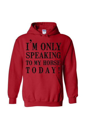 Only Speaking To My Horse- Long Sleeve-Long Sleeve-Teescape-Red-S-Three Wild Horses