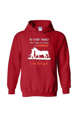 I Am That Girl - Long Sleeve-Long Sleeve-Teescape-HOODIE-Red-S-Three Wild Horses