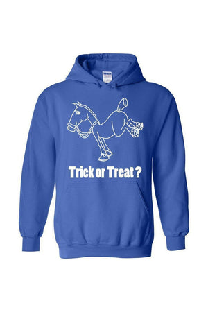 Trick Or Treat? - Long Sleeve-Long Sleeve-Teescape-HODDIE-Royal Blue-S-Three Wild Horses