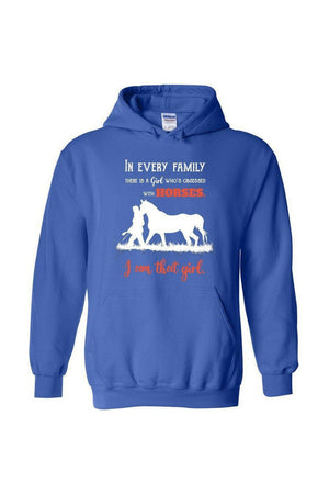 I Am That Girl - Long Sleeve-Long Sleeve-Teescape-HOODIE-RoyalBlue-S-Three Wild Horses