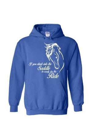 Horse Riding - Long Sleeve-Long Sleeve-Teescape-Hoodie-Royal Blue-S-Three Wild Horses