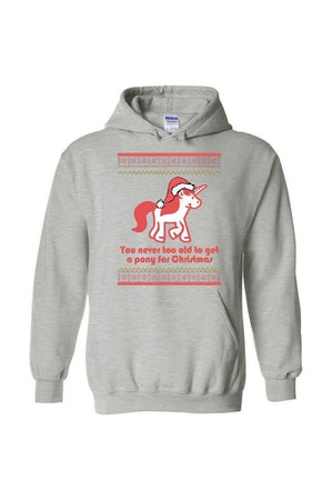 Ugly Christmas Sweater - Long Sleeve-Long Sleeve-Teescape-HODDIE-Sports Grey-S-Three Wild Horses